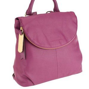 New Amethyst Smooth Leather Zip-Flap Backpack